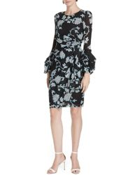 Diane von Furstenberg - Faridah Draped Mesh Dress - Lyst