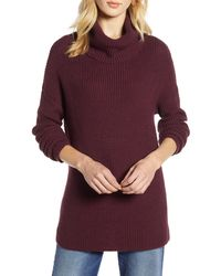Halogen - Halogen Oversized Turtleneck Tunic Sweater - Lyst