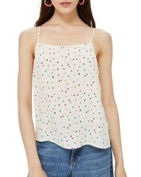 TOPSHOP - Sprinkle Spot Camisole - Lyst