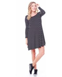 Ingrid & Isabel | Ingrid & Isabel Striped Maternity Trapeze Dress | Lyst