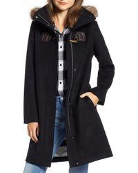 Pendleton - St Marie Wool Hooded Coat With Genuine Raccoon Fur Trim - Lyst