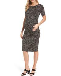 9ac216f227e15 Lyst - Isabella Oliver 'pianna' Maternity Dress in Black