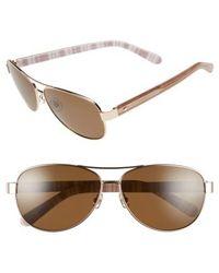 Kate Spade - 'dalia' 58mm Polarized Aviator Sunglasses - - Lyst