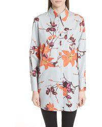 Etro - Lily Print Poplin Shirt - Lyst