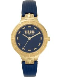 Versus - Claremont Leather Strap Watch - Lyst