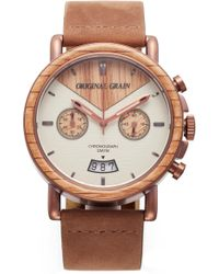Original Grain - Alterra Chronograph Leather Strap Watch - Lyst