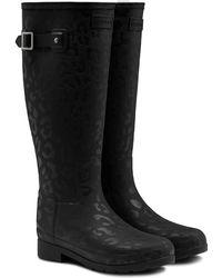 HUNTER - Original Insulated Refined Tall Waterproof Rain Boot - Lyst
