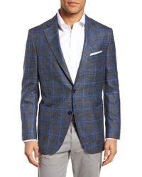 Peter Millar - Classic Fit Plaid Wool Blend Sport Coat - Lyst