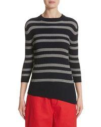 Sofie D'Hoore - Slant Hem Stripe Sweater - Lyst