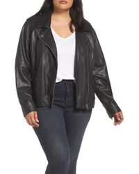 Lucky Brand - Core Leather Moto Jacket - Lyst