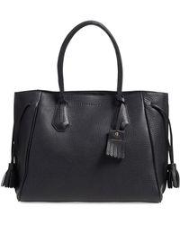 Longchamp - 'penelope' Tassel Drawstring Leather Tote - - Lyst