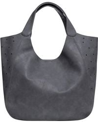 Urban Originals - Masterpiece Perforated Vegan Leather Hobo - Lyst