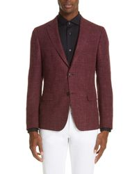 Z Zegna - Wool & Silk Melange Sport Coat - Lyst