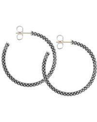 Lagos - Medium Caviar Hoop Earrings - Lyst