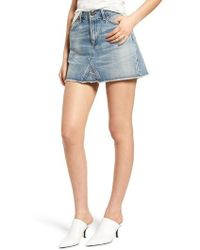 Citizens of Humanity - Cutoff Denim Miniskirt - Lyst