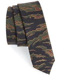 The Kooples | Camo Silk Skinny Tie | Lyst