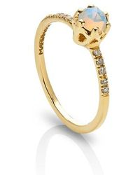 Maniamania - Entity Opal & Diamond Solitaire Ring - Lyst