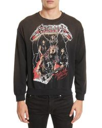 MadeWorn - Metallica Glitter Graphic Sweatshirt - Lyst