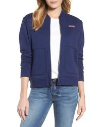 Vineyard Vines | Shep Reversible Full Zip Bomber Jacket | Lyst