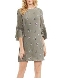 Vince Camuto - Ruffle Sleeve Floral Dress - Lyst