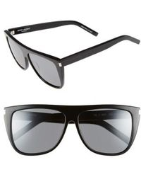 Saint Laurent - Sl1 59mm Flat Top Sunglasses - Lyst
