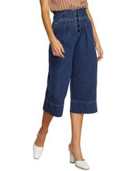 Habitual - Button Fly High Rise Wide Leg Crop Nonstretch Jeans - Lyst