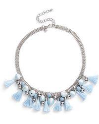 Rebecca Minkoff | Bauble & Tassel Collar Necklace | Lyst