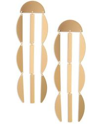 Panacea - Linear Crescent Earrings - Lyst