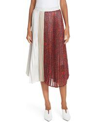 CLU - Colorblock Pleated Skirt - Lyst
