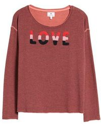 Sundry - Love Raw Edge Pullover - Lyst