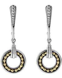 Lagos - Enso Two Tone Drop Earrings - Lyst