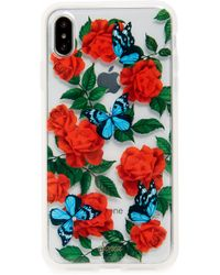 info for cb47c 56cbf Lyst - Sonix Oleander Print Iphone X Case in White