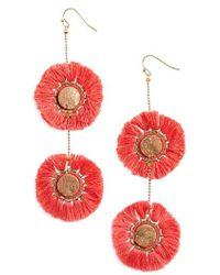 Panacea - Fringe Circle Earrings - Lyst