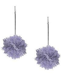 Tuleste - Lace Pom Pom Earrings - Lyst