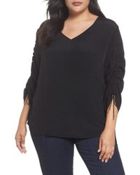 Sejour - Cinched Sleeve Top - Lyst