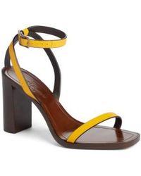 Saint Laurent - Loulou Ankle Strap Sandal - Lyst