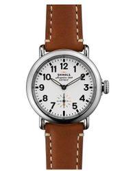 Shinola - 'the Runwell' Leather Strap Watch - Lyst
