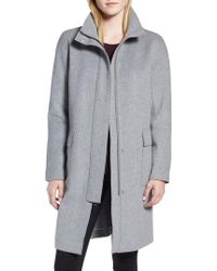 Kenneth Cole - Wool Blend Long Coat - Lyst
