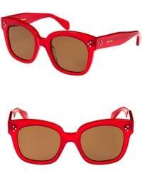 Céline - 54mm Square Sunglasses - - Lyst