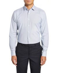 Calibrate - Trim Fit Geometric Print Dress Shirt - Lyst