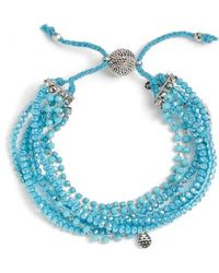 Serefina - Multi Strand Crystal Bracelet - Lyst