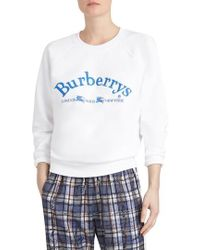 Burberry - Battarni Embroidered Logo Sweatshirt - Lyst