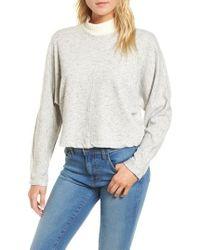 Splendid - Sidelight Crop Mock Neck Pullover - Lyst