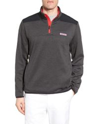 Vineyard Vines - Shep Performance Fleece Quarter Zip Pullover - Lyst