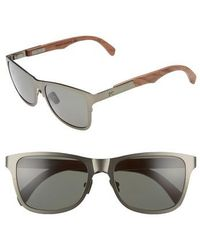 Shwood - 'canby' 54mm Titanium & Wood Sunglasses - - Lyst