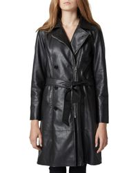 Blank NYC - Faux Leather Trench Coat - Lyst