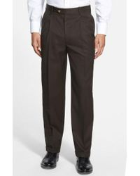 JB Britches | Pleated Super 100s Worsted Wool Trousers | Lyst
