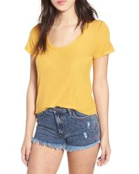 Project Social T - Scoop Neck Tee - Lyst
