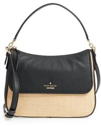 Kate Spade - Jackson Street - Colette Straw & Leather Satchel - - Lyst