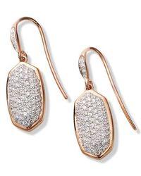 Kendra Scott - Lee Diamond & Rose Gold Drop Earrings - Lyst